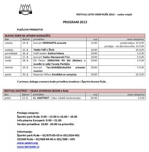 FLOR2013 - program - plačljive prireditve